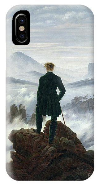 Beach iPhone X Case - The Wanderer Above The Sea Of Fog by Caspar David Friedrich