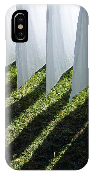 The Washing Is On The Line - Shadow Play IPhone Case