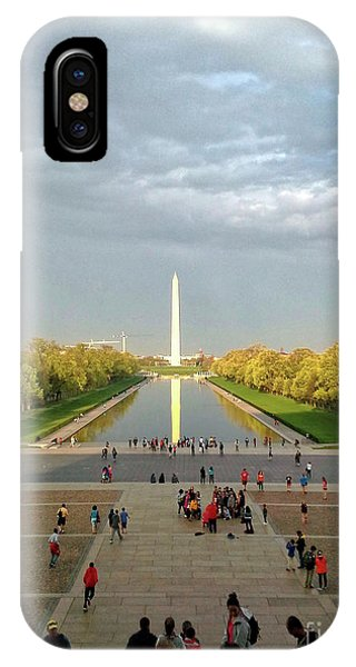 The Washington Monument And The Reflecting Pool IPhone Case