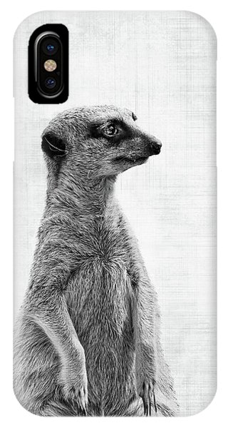 Meerkat iPhone Case - The Watcher by Delphimages Photo Creations