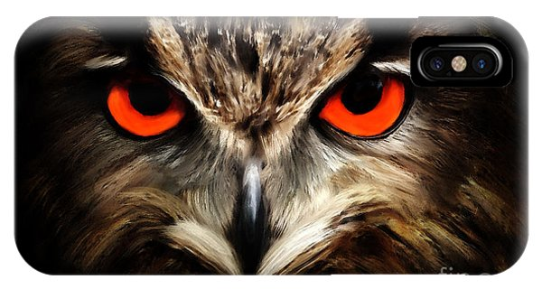 The Watcher - Owl Digital Painting IPhone Case
