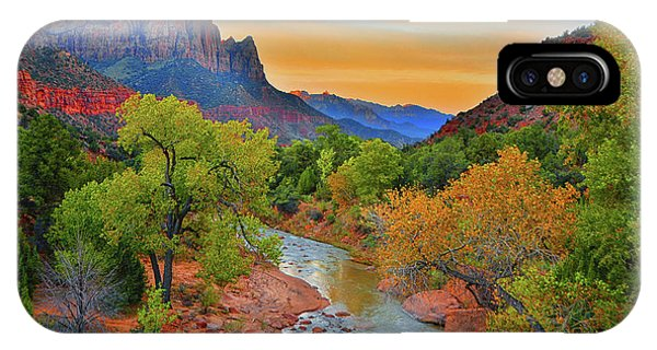 The Watchman And The Virgin River IPhone Case