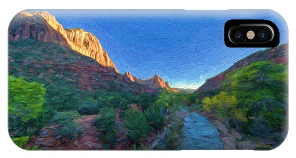 IPhone Case featuring the photograph The Watchman Zion National Park by Bitter Buffalo Photography