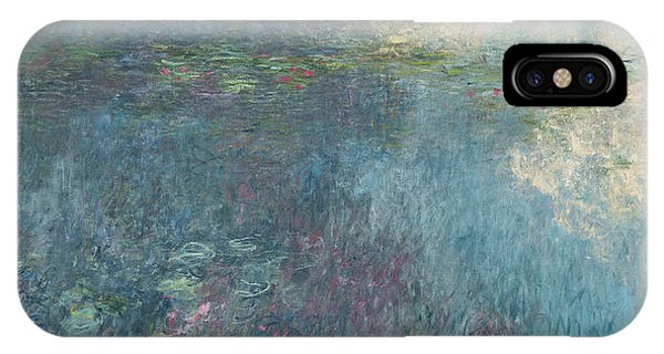 Waterlily iPhone Case - The Waterlilies  The Clouds by Claude Monet