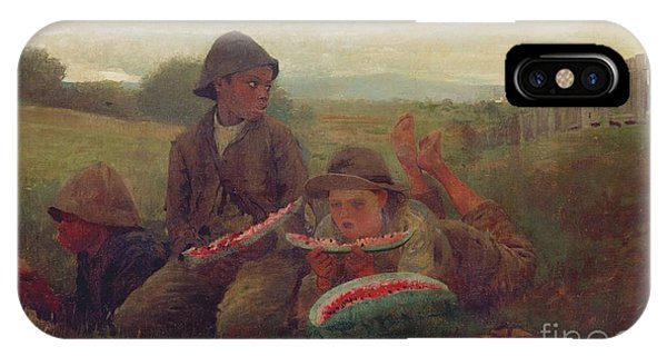 Homer iPhone Case - The Watermelon Boys by Winslow Homer