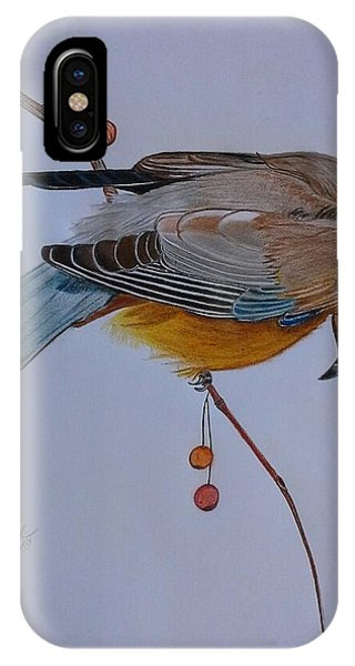 The Waxwing  IPhone Case