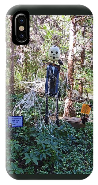 The Web Slayer Scarecrow At Cheekwood Botanical Gardens IPhone Case