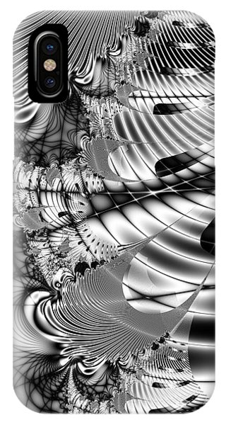 Julia Fractal iPhone X Case - The Web We Weave by Wingsdomain Art and Photography