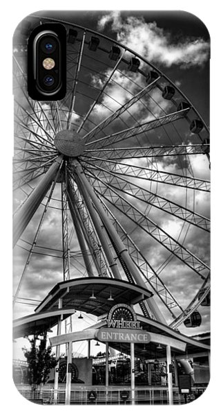The Wheel Entrance In Black And White IPhone Case