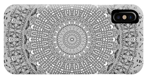 IPhone Case featuring the digital art The White Mandala No. 4 by Joy McKenzie
