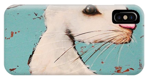 Alice In Wonderland iPhone Case - The White Rabbit by Lucia Stewart