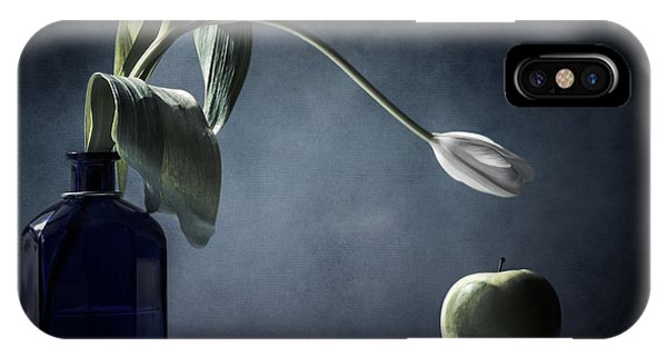 White Tulip iPhone Case - The White Tulip And The Green Apple  by Maggie Terlecki