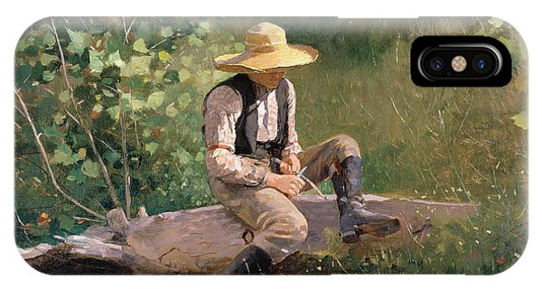 Rural America iPhone Case - The Whittling Boy by Winslow Homer