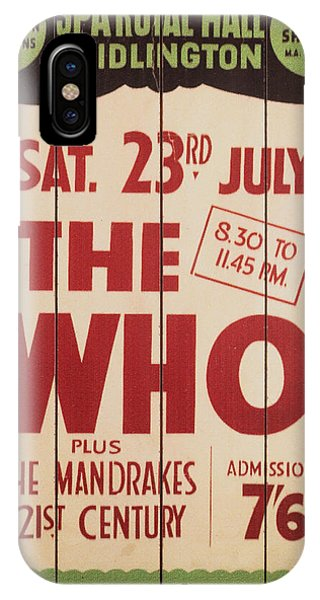 The Who 1966 Tour Poster IPhone Case