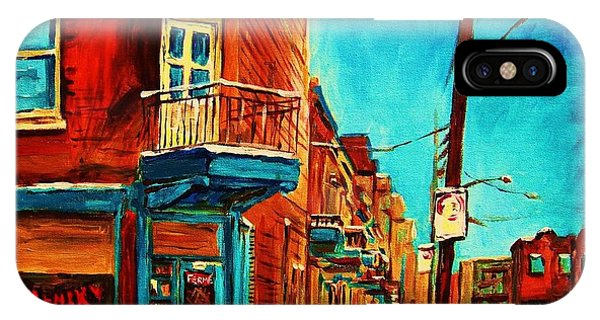 China Town iPhone Case - The Wilensky Doorway by Carole Spandau