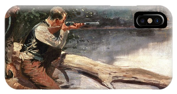 Shooting iPhone Case - The Winchester by Frederic Remington