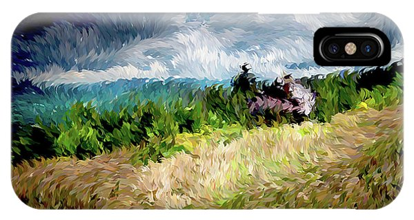 The Winds Come As Night Falls Impressionism IPhone Case