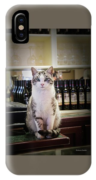 The Winery Cat IPhone Case