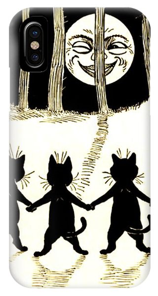 The Wink Six Black Pussy Cats IPhone Case
