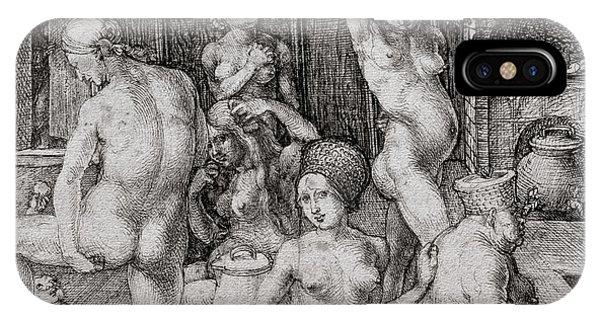 Albrecht Durer iPhone Case - The Women's Bath, 1496 by Albrecht Durer