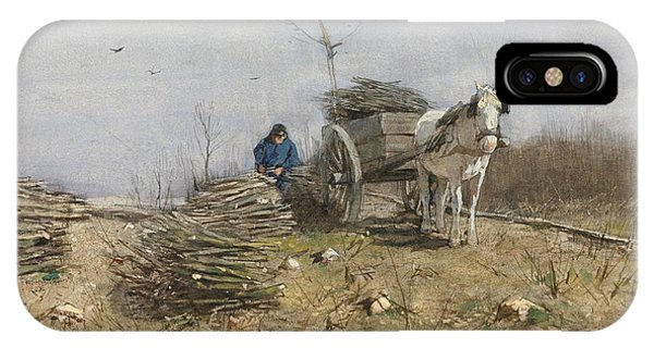 Impressionistic iPhone Case - The Wood Gatherer by Anton Mauve