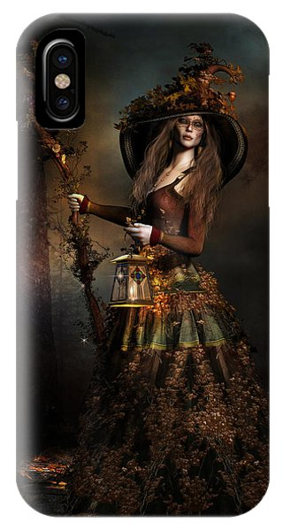 Staff iPhone Case - The Wood Witch by Shanina Conway