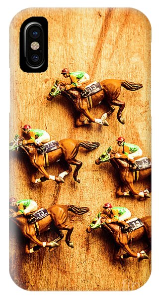 Horseman iPhone Case - The Wooden Horse Race by Jorgo Photography - Wall Art Gallery