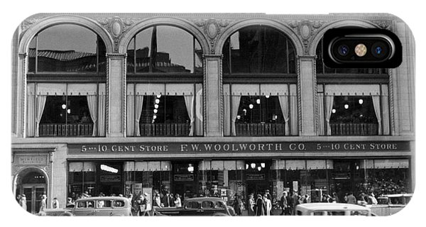 Window Shopping iPhone Case - The Woolworth & Co. Store by Underwood Archives