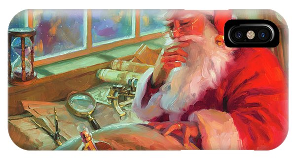 Santa Claus iPhone Case - The World Traveler by Steve Henderson