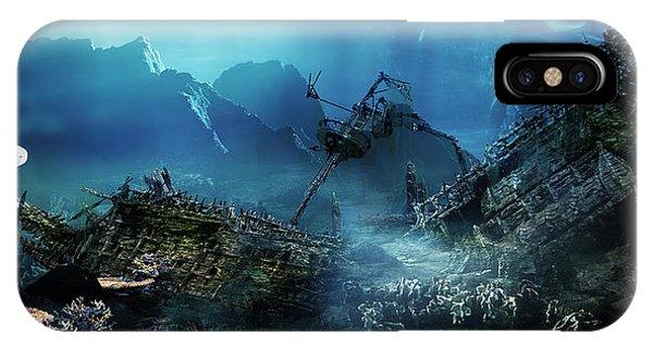 Sea Floor iPhone Case - The Wreck by Karen Koski