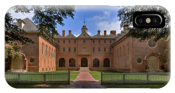 The Wren Building At William And Mary IPhone Case