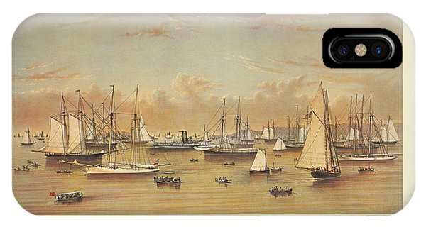 The Yacht Squadron At Newport IPhone Case
