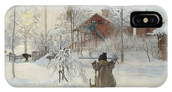 Art And Craft iPhone Case - The Yard And Washhouse. From A Home by Carl Larsson