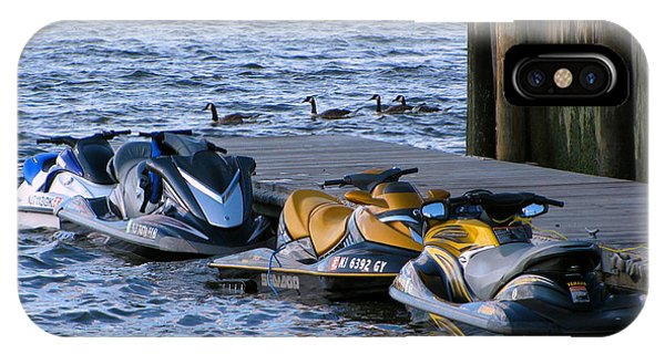 Jet Ski iPhone Case - The Yellow Jet Ski by Colleen Kammerer