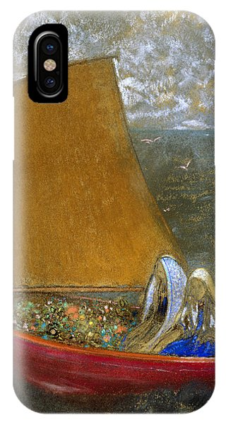 French Painter iPhone Case - The Yellow Sail by Odilon Redon