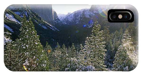 The Yosemite Valley In Winter IPhone Case