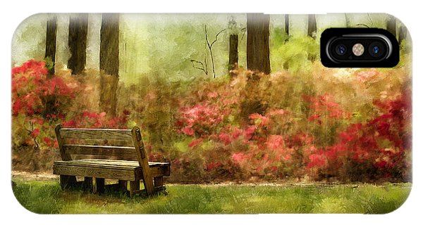 Park Bench iPhone Case - The You You Used To Be by Lois Bryan
