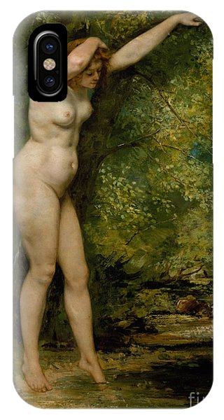 Awakening iPhone Case - The Young Bather, 1866 by Gustave Courbet