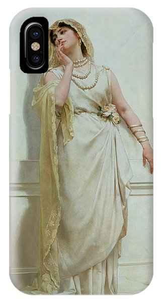Youthful iPhone Case - The Young Bride by Alcide Theophile Robaudi