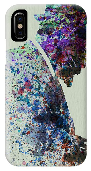 Saxophone iPhone Case - Thelonious Monk Watercolor 1 by Naxart Studio