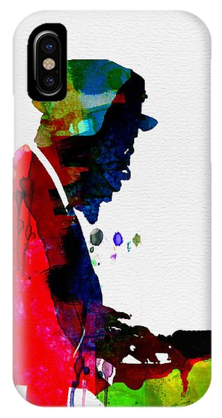 Buddhism iPhone Case - Thelonious Watercolor by Naxart Studio