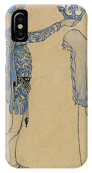 Swedish Painters iPhone Case - Then Put The Prince A Crown Of Gold On Her Head by John Bauer