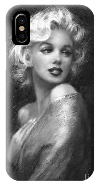 Theo's Marilyn Ww Bw IPhone Case