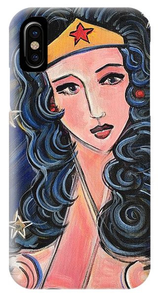 IPhone Case featuring the painting There's A Wonder Woman In Us All by Laurie Maves ART