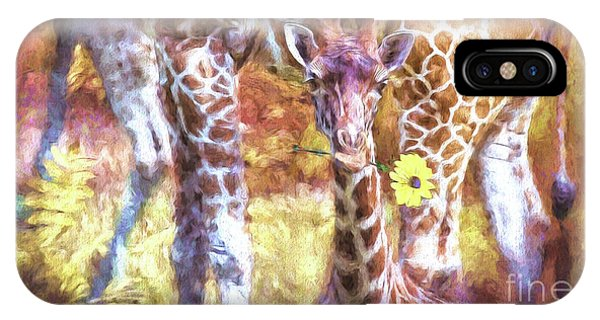 The Whimsical Giraffe  IPhone Case
