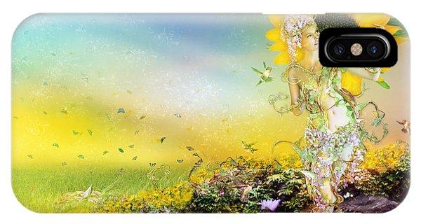 Sunflower iPhone Case - They Call Me Summer by Karen Koski