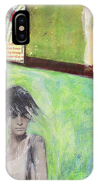 IPhone Case featuring the painting They Say by Geraldine Gracia