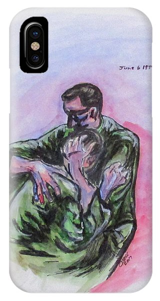 IPhone Case featuring the painting They Will Never Forget by Clyde J Kell
