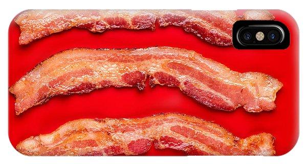 Bacon iPhone Case - Thick Cut Bacon by Steve Gadomski