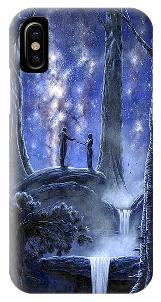 IPhone Case featuring the painting Thingol And Melian by Kip Rasmussen
